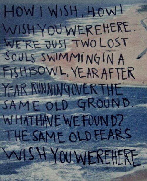 Pink Floyd - Wish You Were Here   I just died and went to heaven! This is my favorite song!!!!!