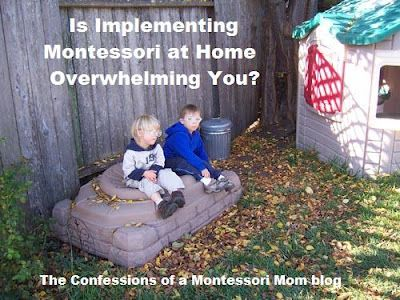 """Is Implementing Montessori at Home Overwhelming You?"" from the Confessions of a Montessori Mom blog.Mom Blog, Montessori Mom, Montessori Homeschool, Homeschool Montessori, Preschool Montessori, Montessori Education, Activities, Implements Montessori, Mom Grandmom"