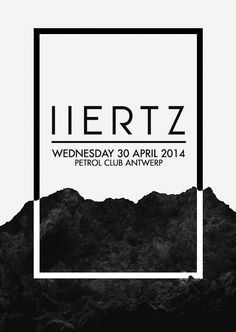 H E R T Z | Poster | Graphic Design | Contrast of Black and White