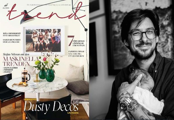 Alcro Trend Magazine with Edin Memic Kjellvertz, Dusty Deco. Cover story.