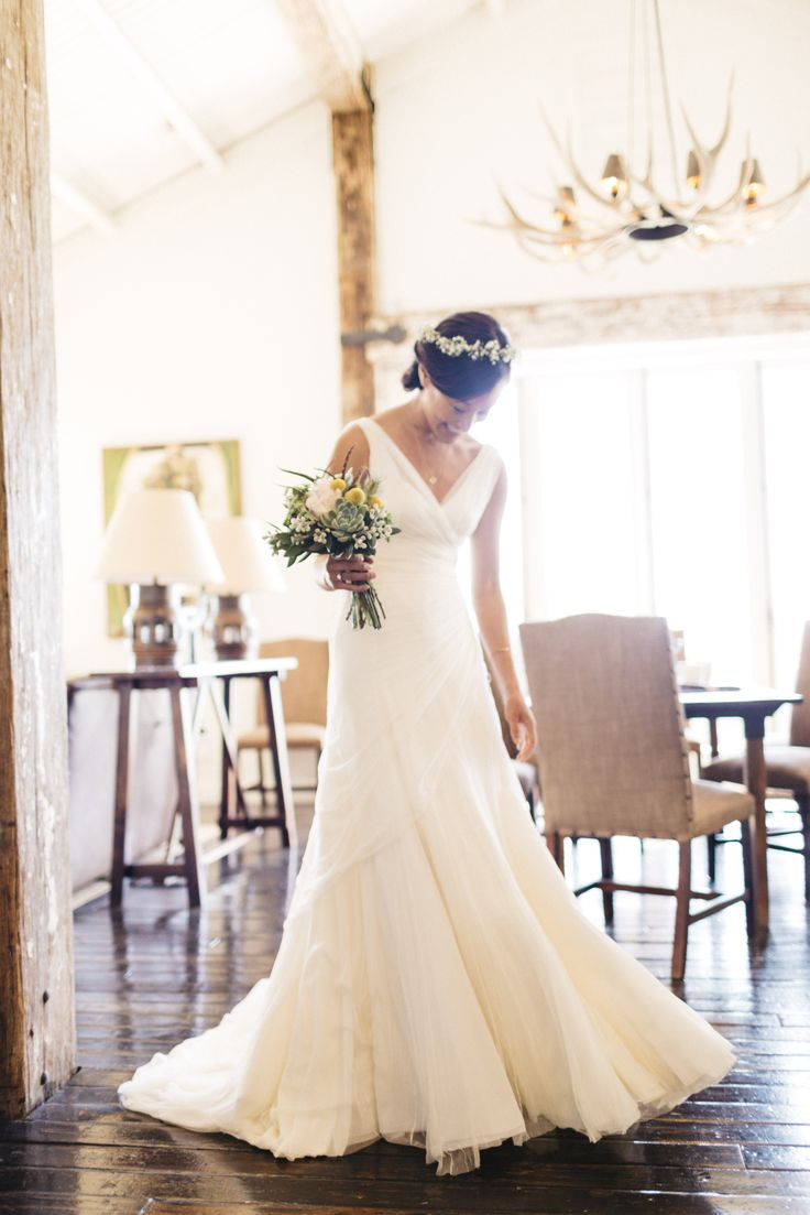 Lian just before her wedding with a gown by #Cortana #realbrides #WeddingDresses