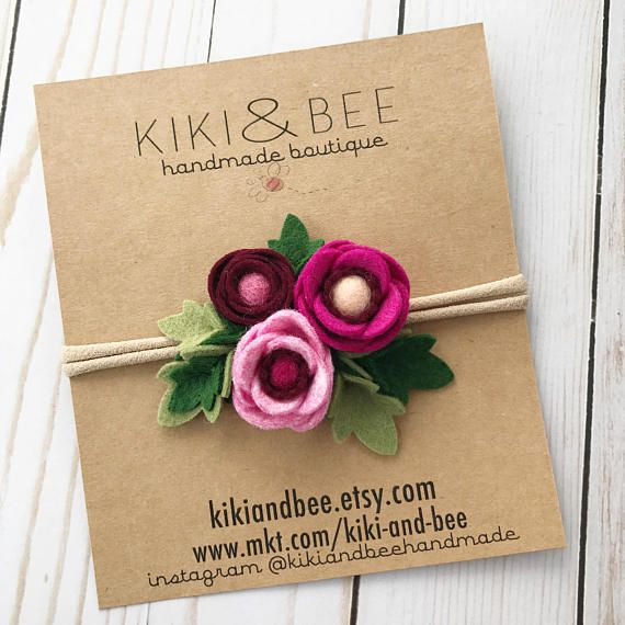 Berry // Petite Poppy Headband // Felt flower crown headband