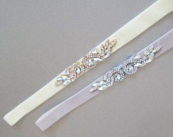 Ceinture ceinture mariage cristal ceinture de par SabinaKWdesign