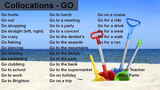 GO Collocations #learnenglish