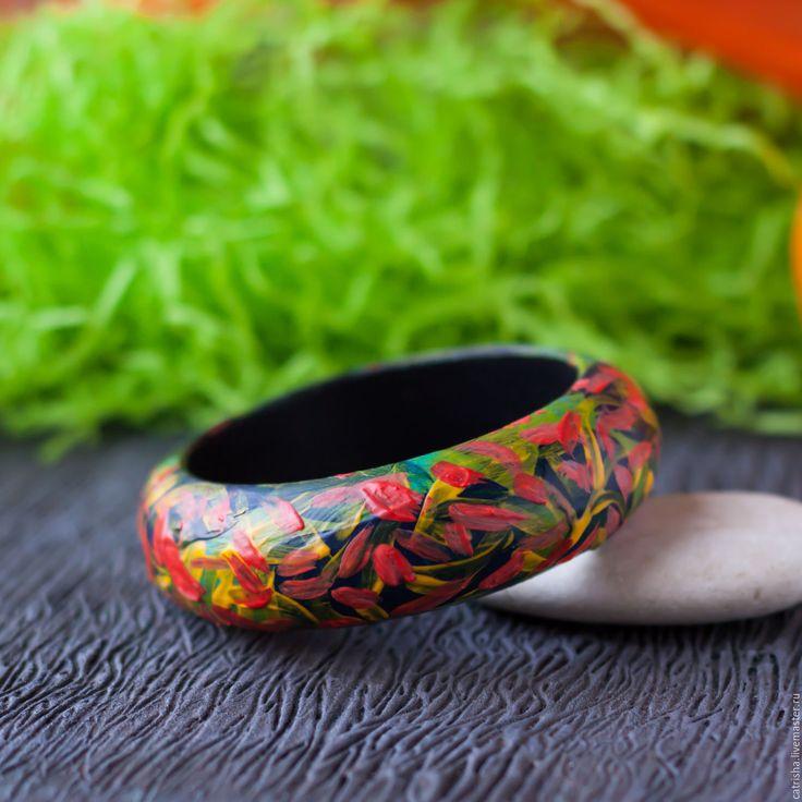 Купить Деревянный браслет Дверь в Лето, яркий браслет в стиле бохо, этно
