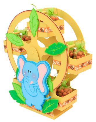 Rueda de la fortuna para fiestas infantiles / Despachador de dulces / Dulceros