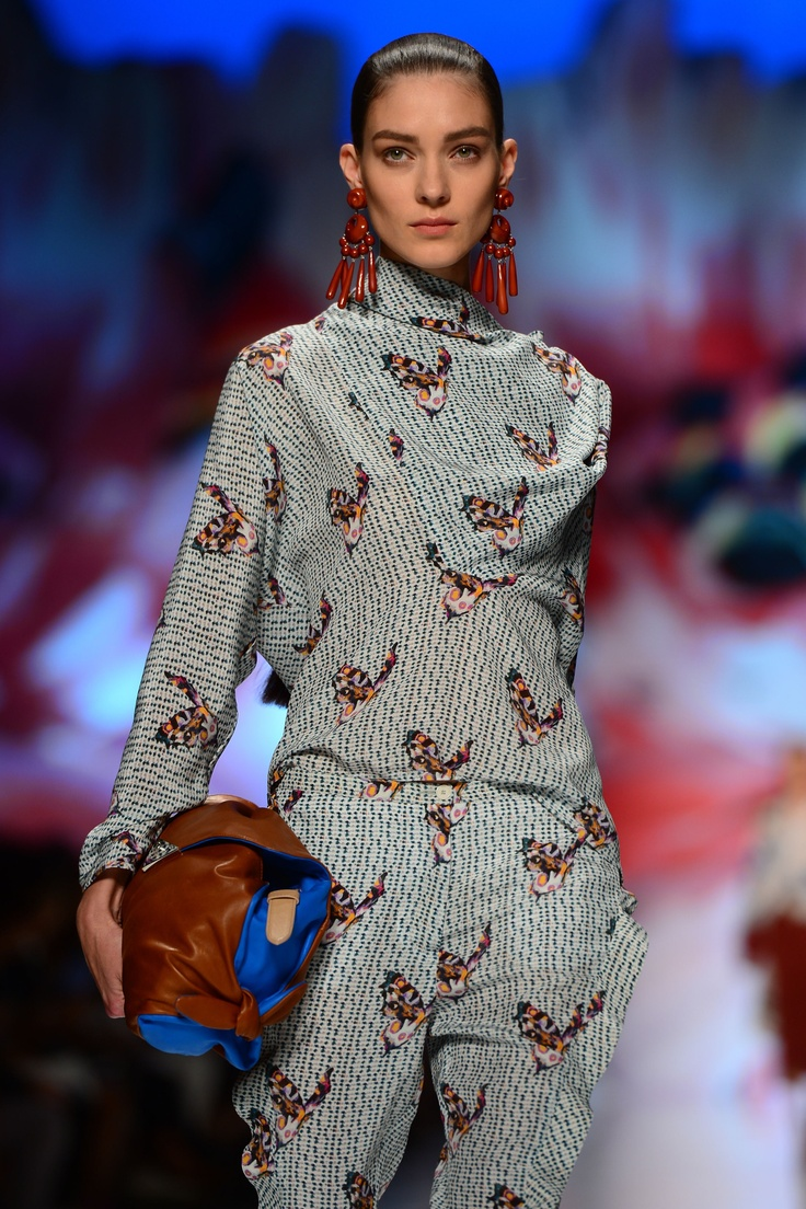 A model displays a creation as part of Etro Spring-Summer 2013 collection on September 21, 2012 during the Women's fashion week in Milan.