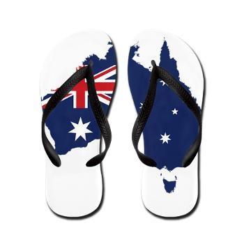Flag Map of Australia Flip Flops