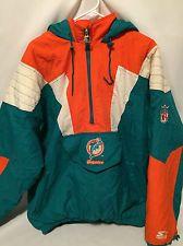 Men's Miami Dolphins Pro Line Authentic Starter Jacket (Size XL)