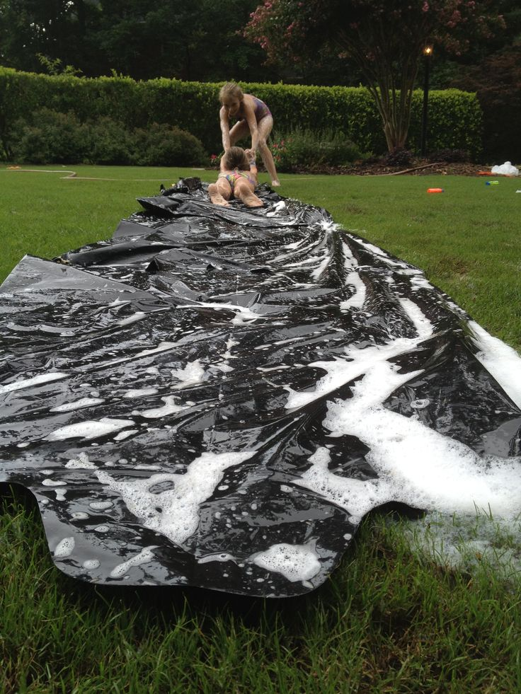jut tape together garbage bags secure it with some stakes the type that hold xmad lights lather with soap and water and slide