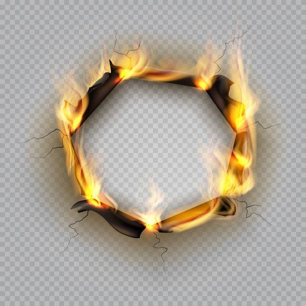 Paper Burn Hole Flame Edge Effect Burnt Effect Torn Explode Border Destroyed Page Heat Cracked Frame Bordes Marco Sobres De Papel