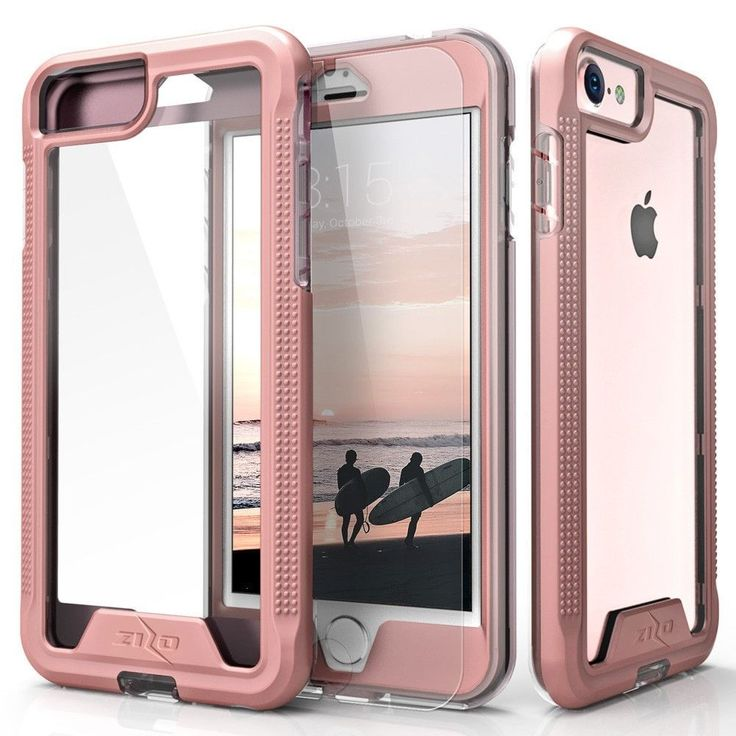 Zizo ION Full-wrap w/ Screen Guard iPhone 7 Case - Rose Gold