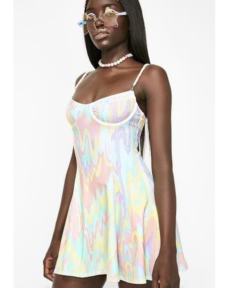 d588320c4e454 Came Thru Drippin  Flared Dress  dollskill  sugarthrillz  pastel  kawaii   candy
