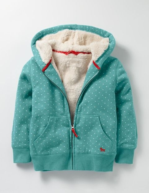 When there's a chill wind blowing, keep the goosebumps away with this shaggy-lined zip-up hoodie. You'll be able to carry on all your adventures in comfort and the pretty prints look great with your jeans and dresses.