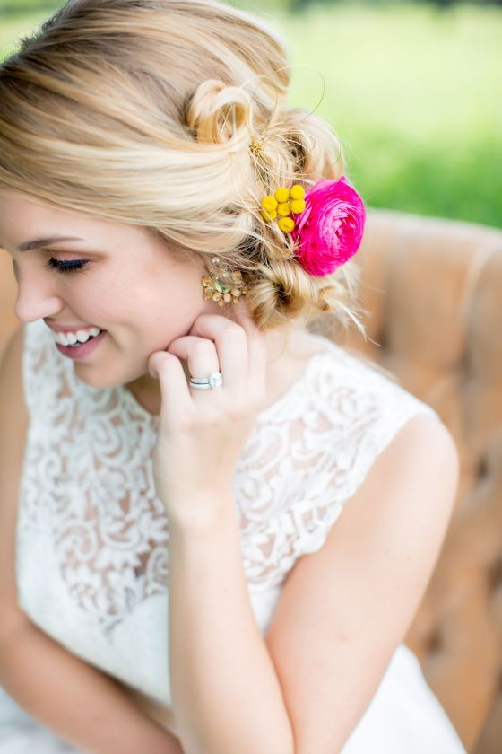 Gorgeous hair and wedding gown // Styling by BRANDtabulous, Photography by Brio Art