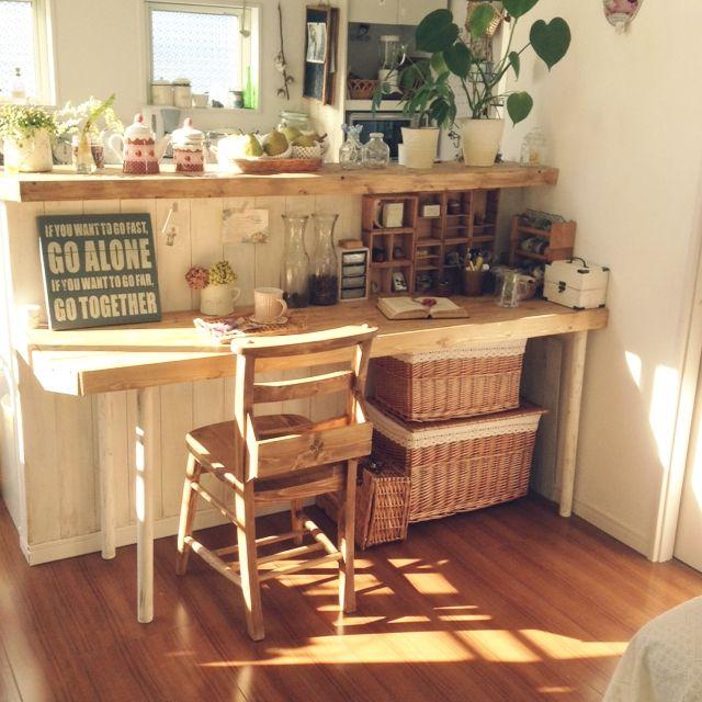 キッチンカウンター/DIY/キッチンのインテリア実例 - 2014-12-18 12:42:52 | RoomClip(ルームクリップ)