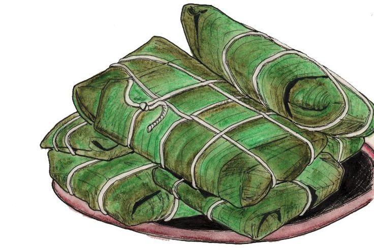 Dit recept komt van oorsprong uit Venezuela, waar het hallaca wordt genoemd. De feestelijke pakketjes zijn algeneraties lang ingeburgerd op de Antillen. Men eet de Ayaka traditioneel met oud-en-ni…