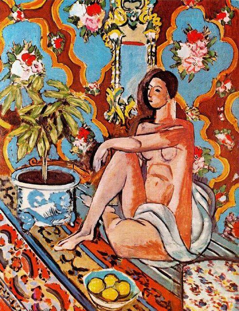 Decorative Figure on an Ornamental Ground, 1926.  Óleo sobre lienzo. 130 x 98 cm.  Museo Nacional de Arte Moderno. Centre Georges Pompidou. París. Francia.