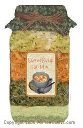 Easy Spiral Soup in a JarPatricia Clapp