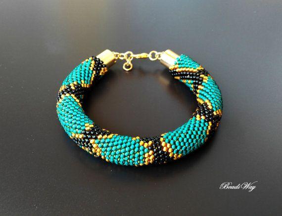Bracelet Serpent/Bracelet of beads/Bracelet di BeadsWay su Etsy
