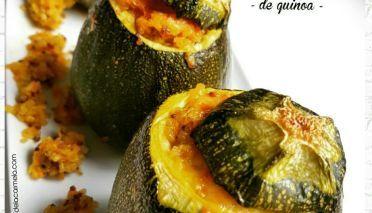 Calabacines rellenos de quinoa