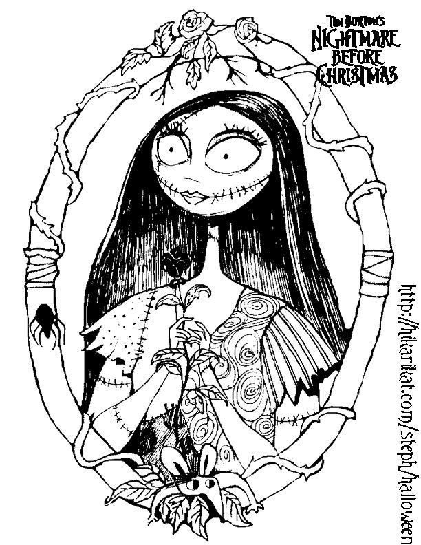 Coloring Pages Nightmare Before Christmas - Free Printable