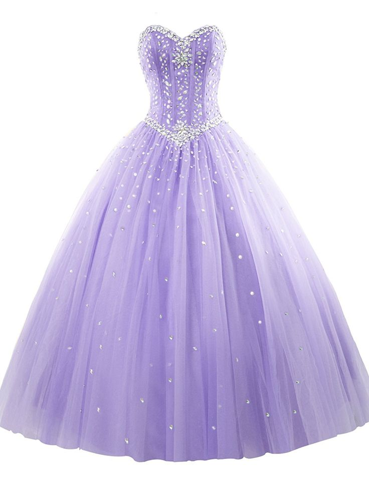 Erosebridal Prom Gown Tulle Sweetheart Beaded Quinceanera Dress Sky Blue US 8