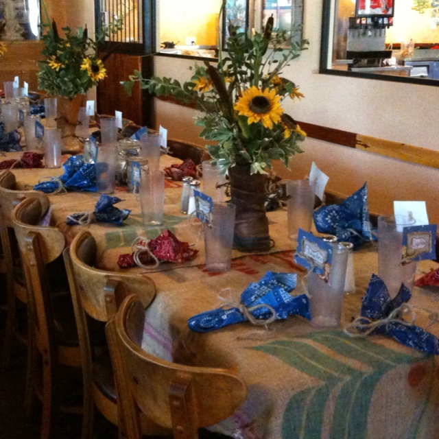 Western table decor party table decorations pinterest Table decoration ideas for parties