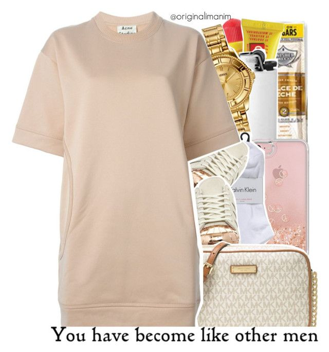 """""""06-10-2017."""" by originalimanim ❤ liked on Polyvore featuring Carmex, Versus, Rebecca Minkoff, Calvin Klein, adidas, MICHAEL Michael Kors and Acne Studios"""