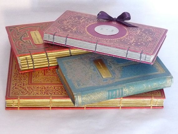 Custom Guest Books and Journals made from Antique French Books, Personalized Rebound Books, DELAYED DELIVERY