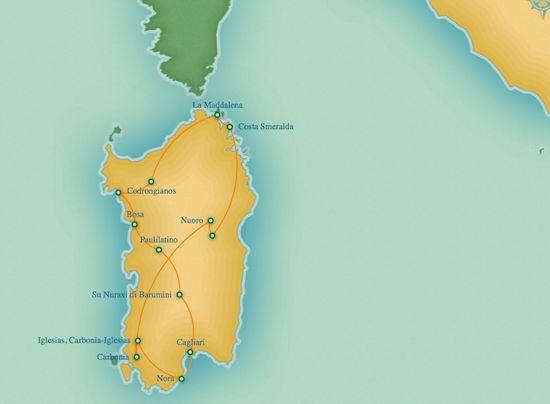 8 days/7 nights Itinerary: Paulilatino - Barumini - Cagliari - Nora - Iglesias - Nuoro - Orgosolo - Costa Smeralda - La Maddalena Archipelago - Saccargia - Alghero. Price per person sharing a double room starting from EUR825. #traveltoitaly