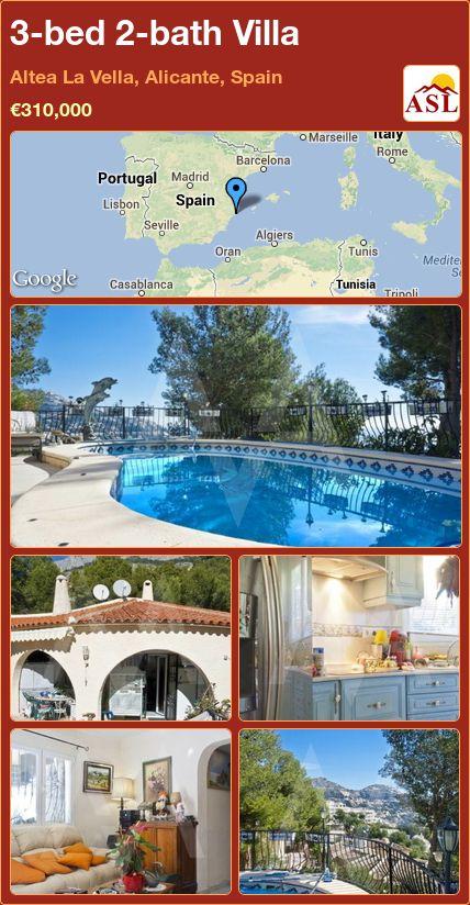 3-bed 2-bath Villa in Altea La Vella, Alicante, Spain ►€310,000 #PropertyForSaleInSpain