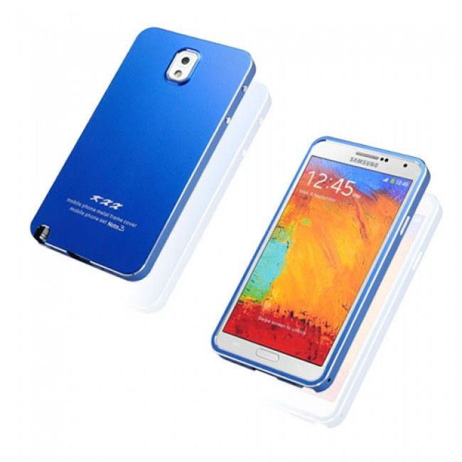 KXX (Sininen) Samsung Galaxy Note 3 Metalli Suojakuori - http://lux-case.fi/catalog/product/view/id/23794/s/kxx-blue-samsung-galaxy-note-3-metal-case/