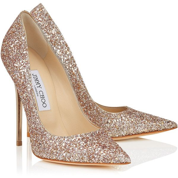 Nude Shadow Coarse Glitter Fabric Pointy Toe Pumps ANOUK found on Polyvore featuring shoes, pumps, heels, sapato, nude court shoes, jimmy choo shoes, pointy-toe pumps, glitter shoes and jimmy choo pumps