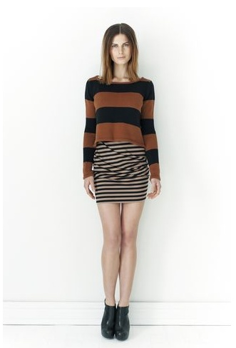 Stripe It Crop Sweater - mad for stripes, anytime, anywhere.