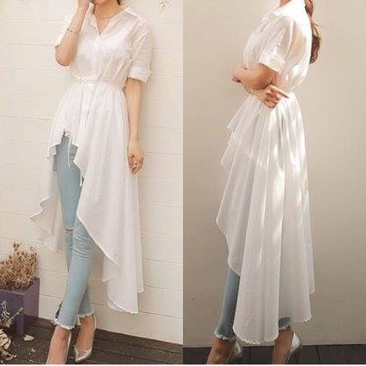 "Instagram: ""Solid White Hi Low Long Blouse"