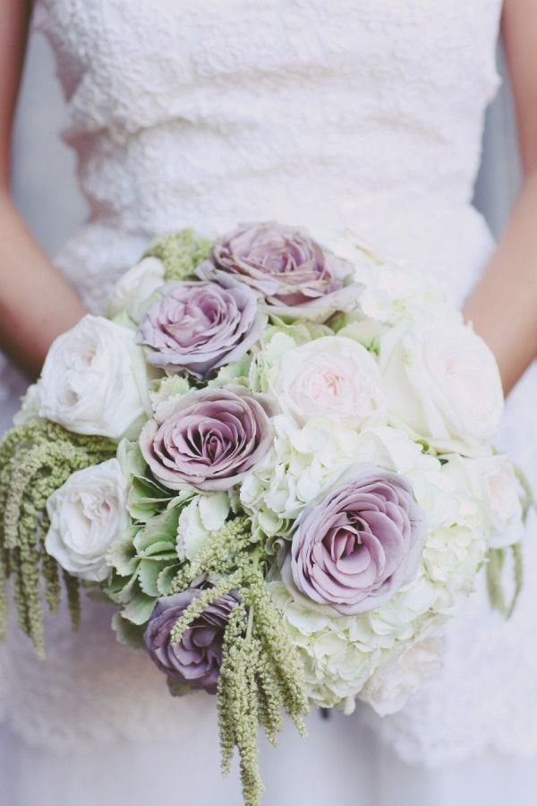 White and Lavender  @Maryanne Schneller.. This is perfect!-- I think I like that purple flower better than purple hydrengias!