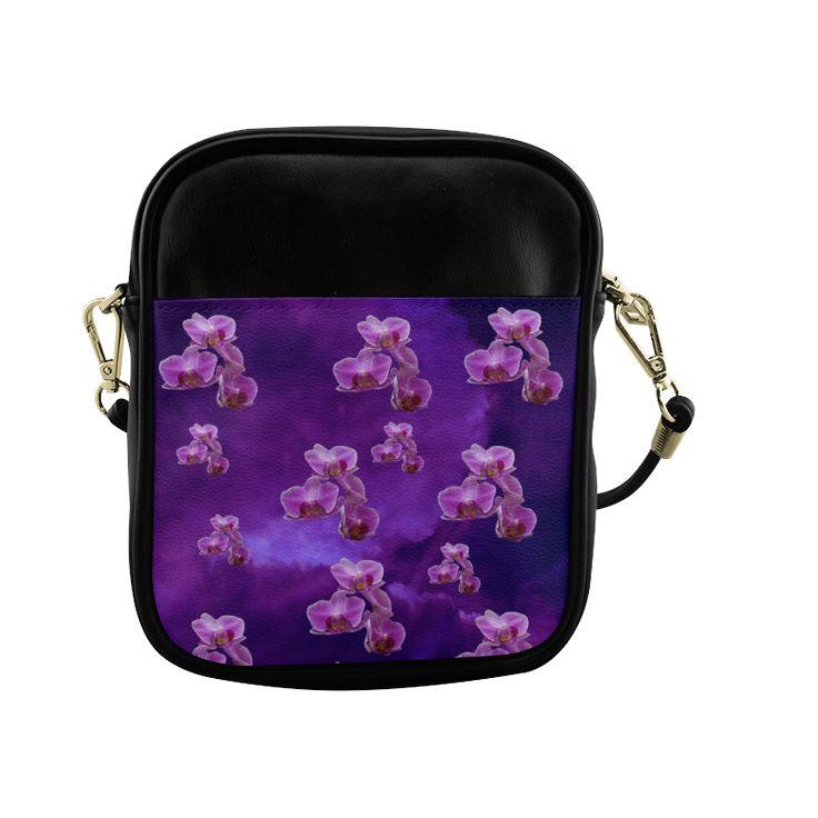 Purple Orchids Sling Bag (Model 1627)
