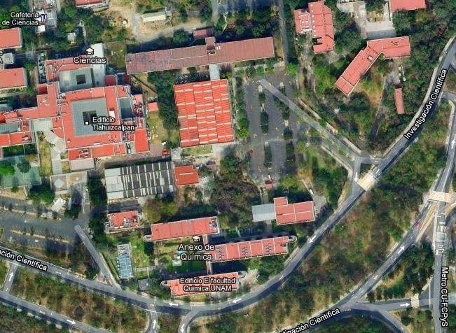 Edificio E. Facultad de Química, UNAM.