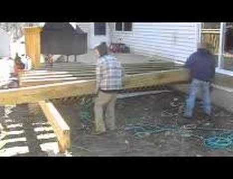How to Build a Deck Part 4 of 6 - Framing and Decking - YouTube