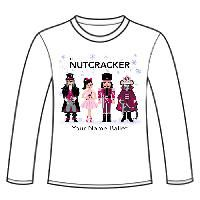 APP-42-LST-Nutcracker Ballet Gifts Long Sleeve Shirt-Nutcracker Characters with Snowflakes