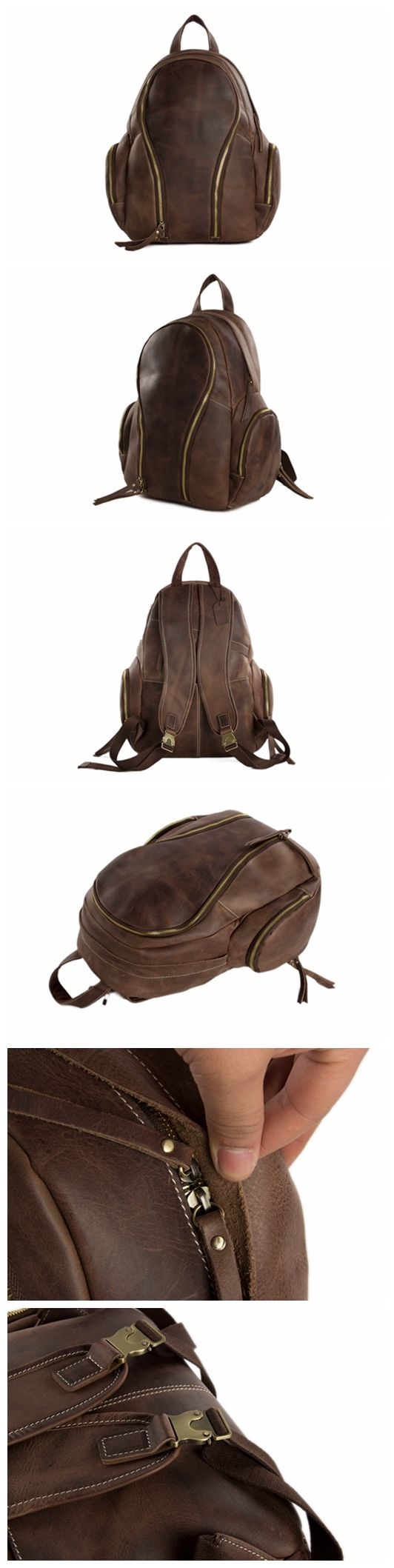 Handcrafted Genuine Leather Backpack Travel Backpack,Laptop Bag, School Backpack