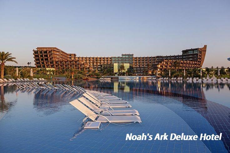 Noah's Ark Deluxe Hotel  #Kibris , #Bafra 'da bulunan tesis; 160000m2 alana kurulu olup denize sıfırdır. 1300m. Uzunluğunda muhteşem bir plaja sahiptir. Casino'nun 616 odası bulunmaktadır. Noah's Garden kısmında 280 standart oda, Noah's Residence kısmında 288 standart oda, 43 suite oda ve 5 engelli odası ile hizmet vermektedir #Anitur Erken rezervasyon fırsatları için bağlantıyı takip edin.