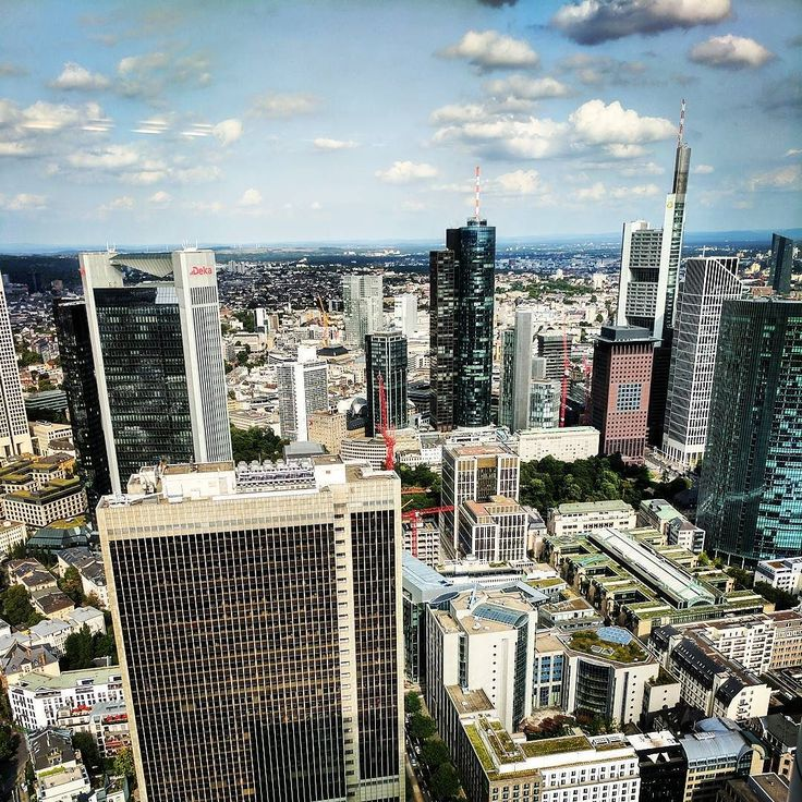 Wie ich #frankfurt besonders liebe #skyscraper #oben #Ausblick