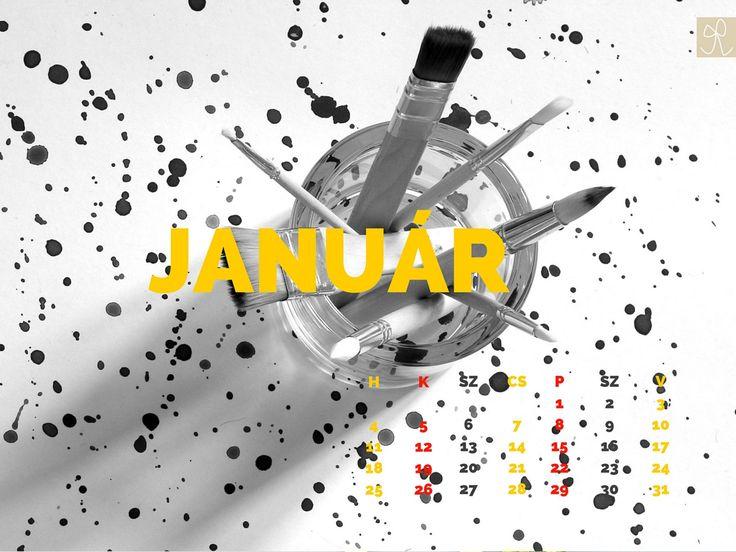 Masni 2016. januári háttérkép - Free desktop calendar 2016 January