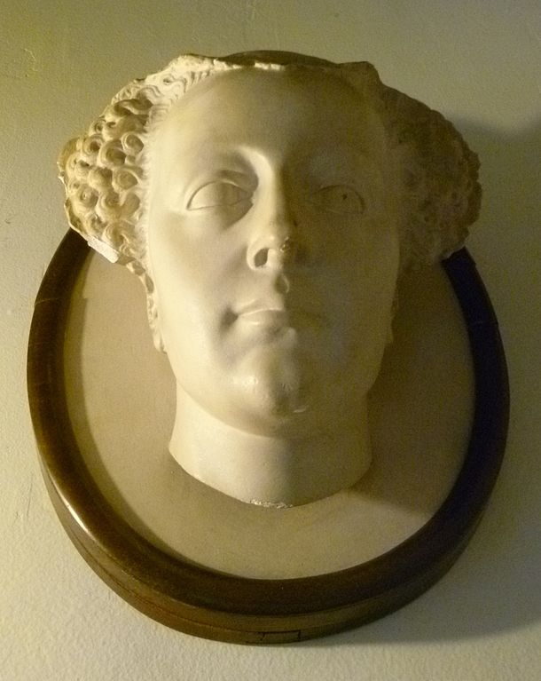 Copy of Queen Mary's death mask at Falkland Palace (1587)