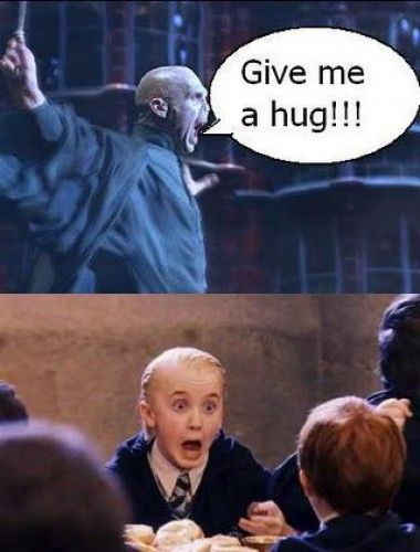 I actually found this really funny because of the whole awkward hug scene in the last movie