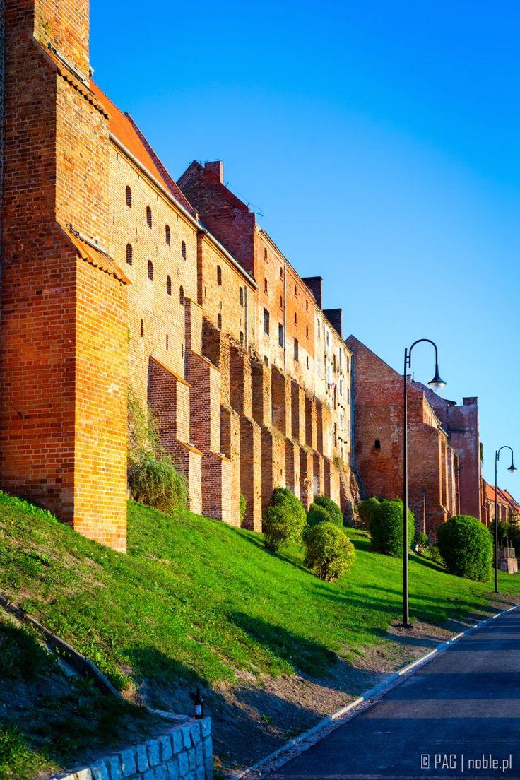 The old brick granaries complex in Grudziadz, Poland