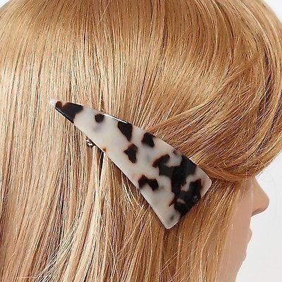 Cellulose Acetate Triangle Decorative French Hair Barrettes #veryshine #hairbarrette #frenchbarrette #celluloseacetate