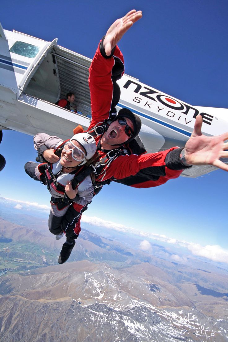 Jumping out of a plane at 15,000ft over Queenstown